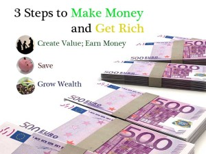 3 Steps to Make Money and Get Rich