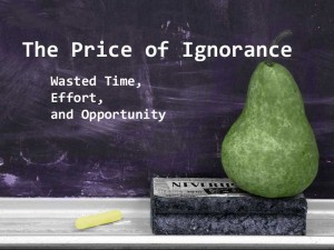 The Price of Ignorance: Wasted Time, Effort, and Opportunity