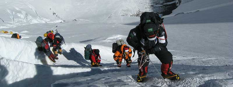 Mountaineering Team at Everest