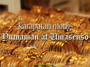 Karapatan mong Yumaman at Umasenso