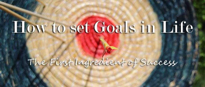 How to set Goals in Life The First Ingredient of Success - Your Wealthy Mind