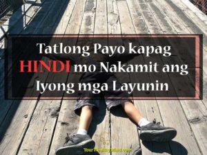 Tatlong Payo kapag Hindi mo Nakamit ang Iyong mga Layunin