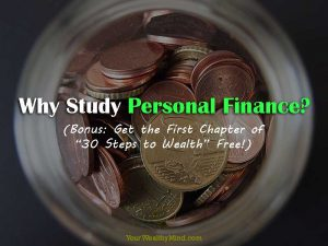 "Why Study Personal Finance? (Bonus: Get the First Chapter of ""30 Steps to Wealth"" Free!)"