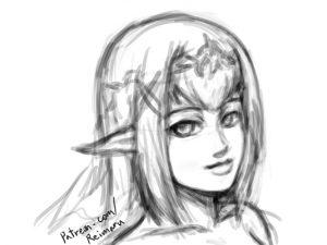 sketching practice elf