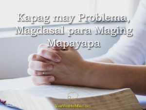magdasal para maging mapayapa your wealthy mind