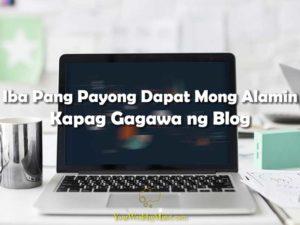Iba Pang Payong Dapat Mong Alamin Kapag Gagawa ng Blog Your Wealthy Mind