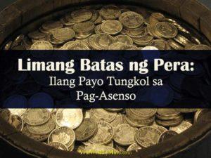 Limang Batas ng Pera Ilang Payo Tungkol sa Pag asenso your wealthy mind