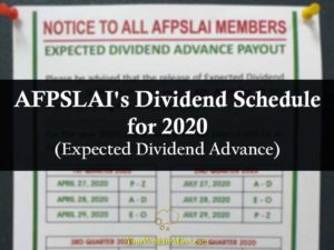 afpslai dividend 2020 your wealthy mind