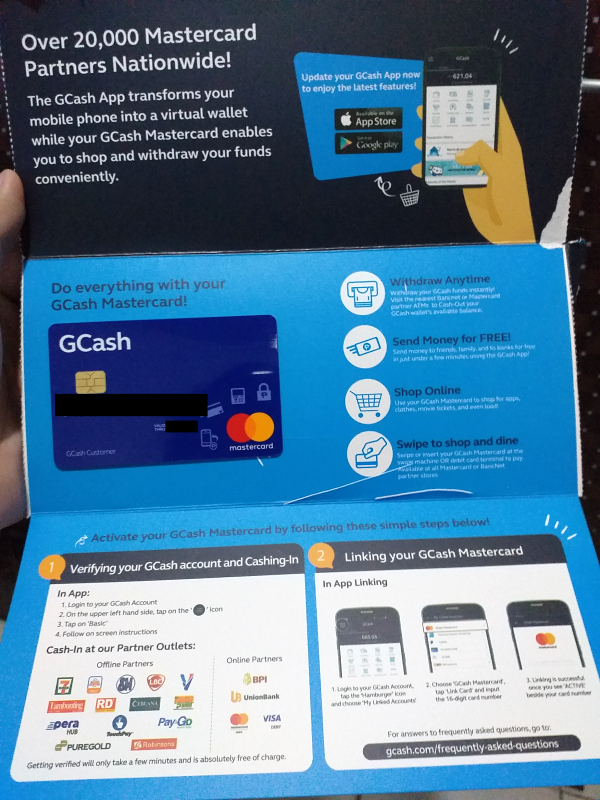 gcash mastercard envelope